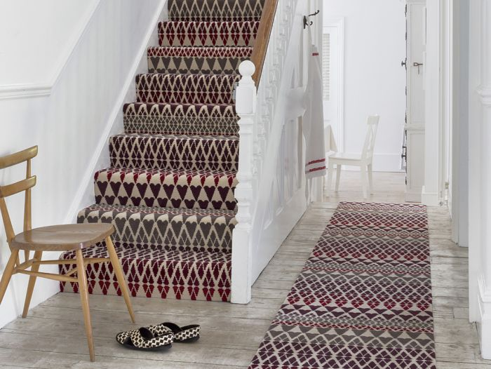 quirky stair runner, pattern, designer carpet for stairs