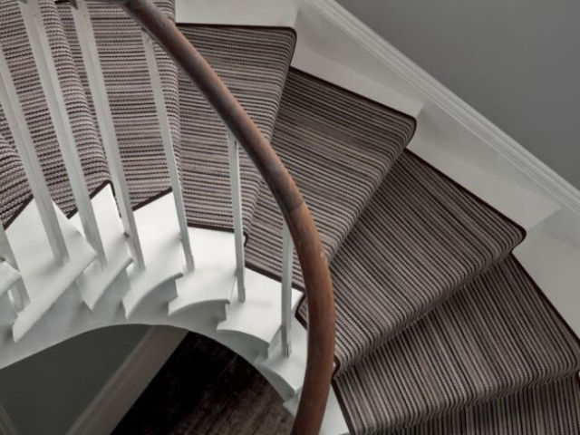 striped stair carpet runner, supplied and fitted, Witney Oxfordshire